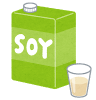 illustration of packed soy-milk