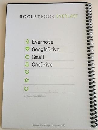 setting of rocketbook sharing