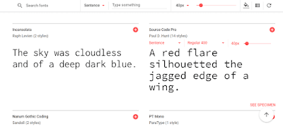 picking up google fonts