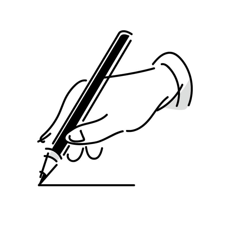 書く手のイラスト